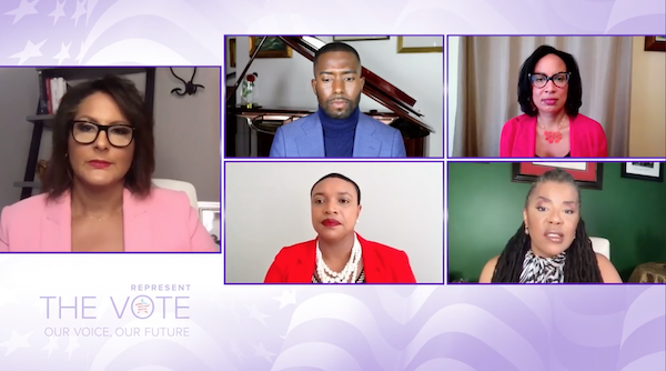 """Screenshot of TV One's """"Represent the Vote: Our Voice, Our Future"""""""