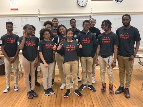Thurgood Marshall Academy students discovered that the lowest D.C. voter turnout rates occur in Wards 7 and 8. (TMA photo)