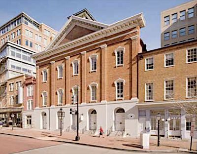 The facade of Ford's Theatre in northwest D.C., the building in which President Abraham Lincoln was assassinated (Courtesy photo)