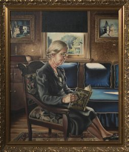 Reading the Bible (Maude Jones), 1940, John N. Robinson. Collection of Anacostia Community Museum, Smithsonian Institution