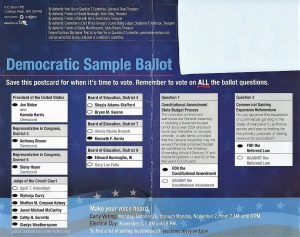 Some Prince George's County residents believe this Democratic sample ballot is misleading and even illegal.