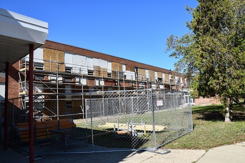 **FILE** Construction at Forest Heights Elementary School (Anthony Tilghman/The Washington Informer)
