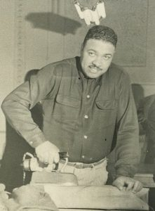 After the war, Floyd H. Siler Sr. trained as a tailor under the GI Bill but found it difficult to find a job. He retrained and spent his career as a fire alarm specialist for the U.S. Secretary of State's Office under the General Services Administration in Washington, D.C. He retired from that position in 1982. (Photo courtesy of the Siler Family)