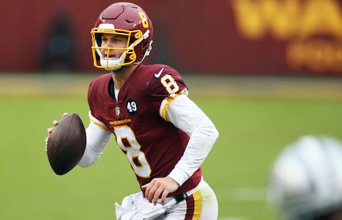 Washington Football Team quarterback Kyle Allen led the Burgundy and Gold to victory over the Dallas Cowboys on Oct. 25 with a two-touchdown performance. (Daniel Kucin Jr./The Washington Informer)