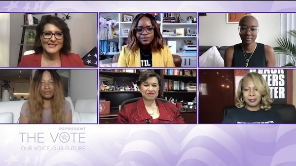 """Screenshot of part two of TV One's """"Represent the Vote: Our Voice, Our Future"""" conversation series"""