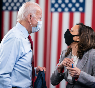 President-elect Joe Biden (left) and Vice President-elect Kamala Harris (Courtesy of Joe Biden via Twitter)