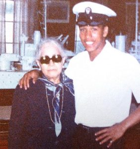 James V. Page Jr. and his aunt Alma (Courtesy photo)
