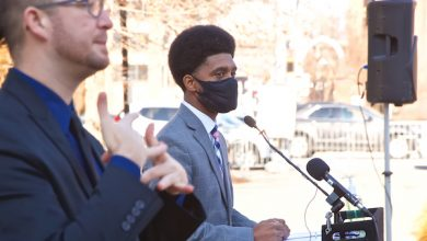 **FILE** Baltimore Mayor Brandon Scott speaks during a Dec. 11 press conference to give an update on the city's response to the coronavirus pandemic. (Courtesy of Scott via Twitter)