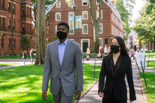 Noah Harris and Jenny Y. Gan won the presidential election for Harvard's Undergraduate Council. (The Harvard Crimson)
