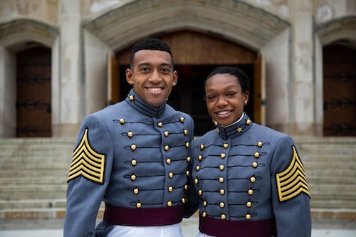 CDT Evan Walker (left) and CDT Tyrese Bender (Courtesy of West Point Academy)