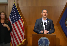 Virginia Gov. Ralph Northam speaks during a Dec. 10 press briefing to give an update on the state response to the coronavirus pandemic.