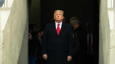 President Donald J. Trump walks out as he is introduced Saturday, Dec. 12, 2020, at the 121st Army-Navy football game at Michie Stadium at the U.S. Military Academy at West Point, N.Y. (Official White House Photo by Shealah Craighead)
