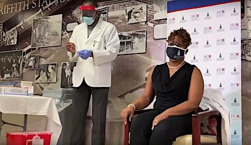 Howard University Hospital begins vaccinating its employees for the novel coronavirus on Dec. 15.