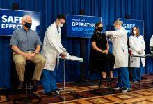 Photo of VP Pence, Surgeon General Receive Coronavirus Vaccination