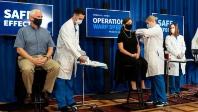 Photo of VP Pence, Surgeon General Receive Coronavirus Vaccination