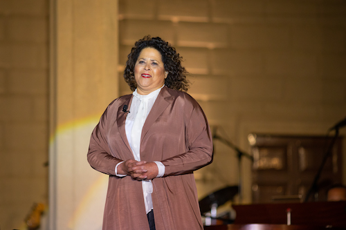 """Anna Deavere Smith, award-winning actor, playwright, and professor contributed an original piece for the New Year's Eve PBS special """"United in Song: Celebrating the Resilience of America."""" (Kevin Parisi)"""