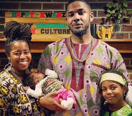 Stan and Rachelle Robinson, co-founders of Substantial Arts and Music, participate in Kwanzaa which begins Dec. 26. (Courtesy of Kelly Davidson Maven Media)