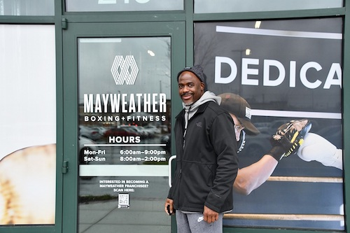 Jeff Brown stands outside Mayweather Boxing & Fitness in Bowie. Brown plans to open the fitness center next month or in February. (Anthony Tilghman/The Washington Informer)