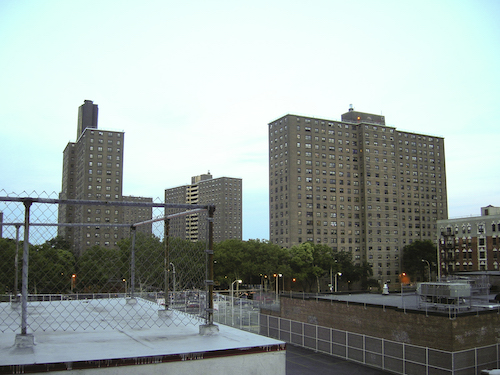 **FILE** The 20-story John F. Hylan Houses in the Bushwick section of New York City's Brooklyn borough (Wikimedia Commons)