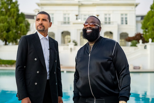Tommy Duncan (left), founder and CEO of Jetdoc, stands with rapper Rick Ross, one of the company's investors. (Courtesy of Jetdoc)