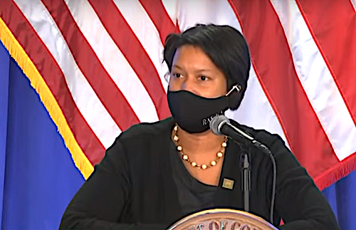 D.C. Mayor Muriel Bowser speaks during a Dec. 7 press conference on the city's response to the coronavirus pandemic.
