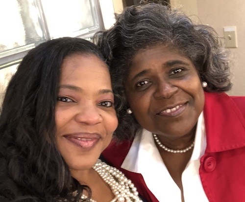 Dr. Trenace Richardson and her mother Gloria Whitfield-Johnson