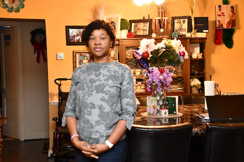 Gold Ukegbu, who filed a civil suit in November against D.C. Public Schools for the alleged abuse of her daughter, said she's considering home-schooling her 14-year-old. (Anthony Tilghman/The Washington Informer)