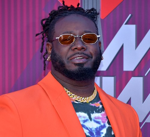**FILE** T-Pain arrives for the 2019 iHeartRadio Music Awards on March 14, 2019 in Los Angeles, California. (Photo by Glenn Francis/Pacific Pro Digital Photography)