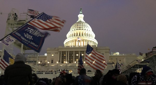 Trump supporters gather outside the Capitol on Jan. 6 as Congress prepares to affirm President-elect Joe Biden's victory. (Tyler Merbler via Wikimedia Commons)