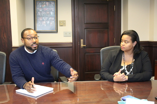 **FILE** Justin Hansford, executive director of the Thurgood Marshall Civil Rights Center and associate professor at the Howard University Law School, and Danielle Holley-Walker, professor of Law and dean of Howard University School of Law (Brigette Squire/The Washington Informer)