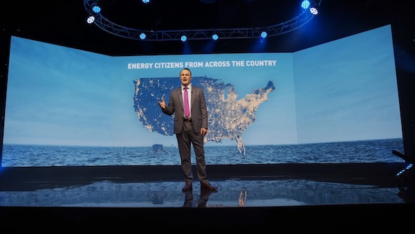 API President and CEO Mike Sommers speaks during State of American Energy. (Courtesy of API)