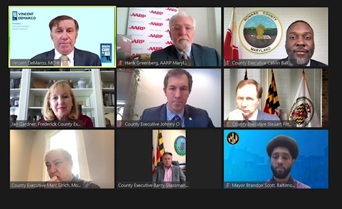 Maryland lawmakers and health care advocates participate in a virtual press conference on Feb. 2.