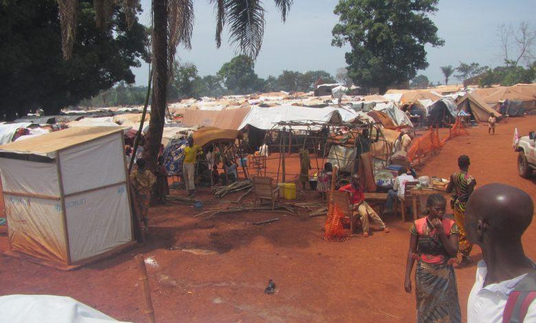**FILE** Refugees camp in PK3, Bria, Central African Republic, 12 June 2018 (Freeman Sipila/VOA via Wikimedia Commons)