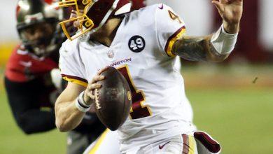 **FILE** Washington Football Team quarterback Taylor Heinicke (Daniel Kucin Jr./The Washington Informer)