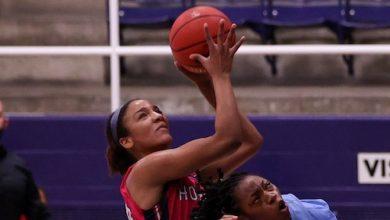 Howard University forward Krislyn Marsh led the Bison in scoring with 18 points against Delaware State University on Feb. 12. (Courtesy of Howard University)