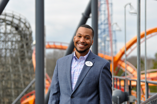 Richard Pretlow on board at Six Flags America and Hurricane Alley in Bowie, Maryland (Courtesy of Six Flags America)