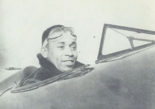 John W. Greene Jr., shown here in an undated photo sitting in a plane, became first African American to receive a mechanic's license for civil aircraft in 1931. (Courtesy of M-NCPPC)