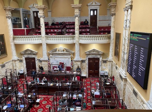 The Maryland Senate holds a session at the State House in Annapolis on Feb. 26. (William J. Ford/The Washington Informer)