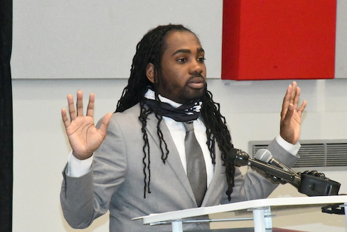 D.C. Council member Trayon White speaks about crime and violence in the District. (Roy Lewis/The Washington Informer)