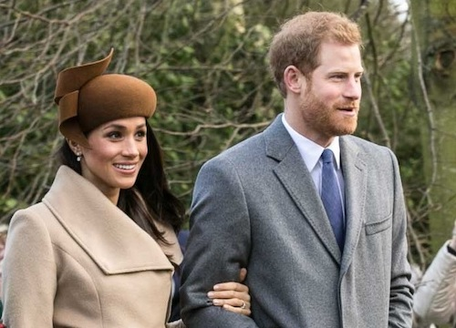 **FILE** Prince Harry and Meghan Markle with other members of the royal family going to church at Sandringham on Christmas Day 2017 (Mark Jones via Wikimedia Commons)