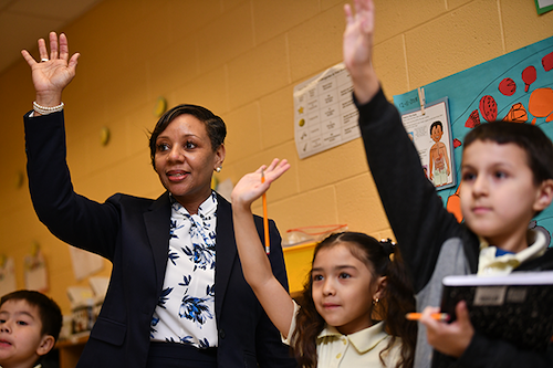 PGCPS CEO Monica Goldson has emphasized the importance of striking a balance between safety, academics and well-being amid the COVID-19 pandemic. (PGCPS photo)