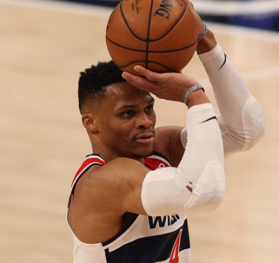 Washington Wizards guard Russell Westbrook (Courtesy of the Wizards via Twitter)