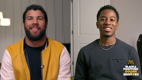 NASCAR drivers Bubba Wallace and Rajah Caruth are now members of the McDonald's Black and Positively Golden Mentors program.