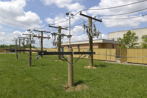 Utility poles supply power to D.C. residents. (Courtesy of Google)