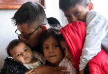 **FILE** Raul and his four children. He and his 10-year-old son were separated by immigration officials in Arizona in March 2018. (Guillermo Arias/ACLU)