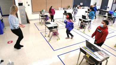 Photo of Montgomery County Students in K-3rd Grade Return to Classrooms