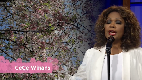 CeCe Winans was one of the featured performers during the virtual Cherry Blossom celebration show presented by EventsDC on April 9.