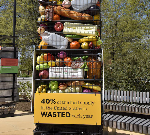 A food display is just one component of the Smithsonian Anacostia Community Museum's new exhibition on the museum's plaza in southeast D.C. (Robert R. Roberts/The Washington Informer)