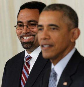 **FILE** John B. King Jr. (left) served as education secretary under former President Barack Obama. (Courtesy photo)