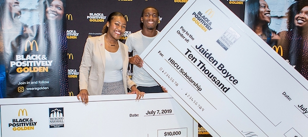 **FILE** 2019 McDonald's Black & Positively Golden scholarship recipients Jordyn Allen (left) and Jaiden Boyce at Essence Festival of Culture in New Orleans (Courtesy of McDonald's)